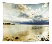 Beach Panorama Of A Sunrise Over The Sea Tapestry