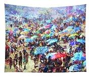 Beach Umbrellas Tapestry