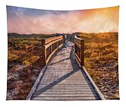 Beach Walk In The Dunes Tapestry