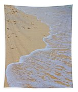 Beach Water Curves Tapestry