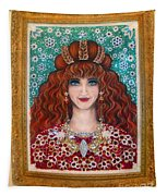 Sarah Goldberg Beauty Queen. Beadwork Tapestry