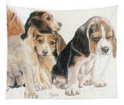 Beagle Puppies Tapestry