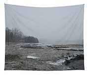 Beals Cove During A Snow Storm Tapestry