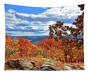 Bear Mountain Gold And Bronze Tapestry