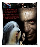 Bearded Collie Art Canvas Print - Hannibal Movie Poster Tapestry