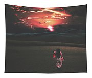 Beauties Of The Desert At Sunset Tapestry