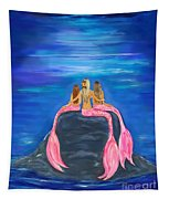 Beauties On The Rock Tapestry