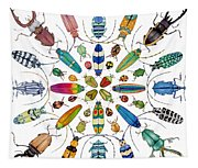 Beautiful Beetles Tapestry