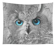 Beautiful Blue-eyed Owl Tapestry