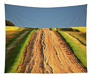 Beautiful Colors Along A Saskatchewan Country Road Tapestry