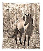 Beautiful Horse In Sepia Tapestry