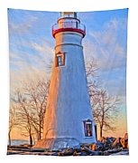 Beautiful Marblehead Lighthouse Tapestry
