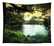Beautiful Mountain Lake Tapestry