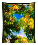 Beautiful Tree Tops In Sky Tapestry