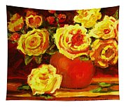 Beautiful Yellow Roses Tapestry