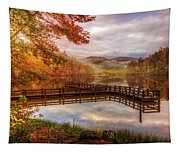 Beauty Of The Lake In Autumn Deep Tones Tapestry