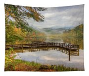 Beauty Of The Lake Oil Painting  Tapestry