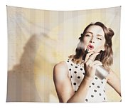 Beauty Parlour Pinup Tapestry