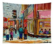 Beautys Luncheonette Montreal Tapestry