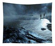 Beaver's Bend Fog Fishing Tapestry