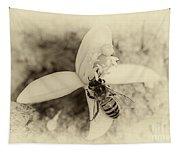 Bee On Citrus Flower Tapestry