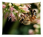 Bee On Flower 1 Tapestry