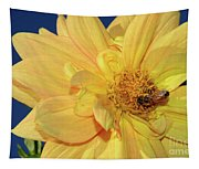 Bee On Pretty Dahlia By Kaye Menner Tapestry