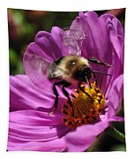 Bee On Purple Flower Tapestry