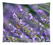 Bee On The Lavender Tapestry