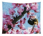 Bee To The Blossom Tapestry