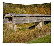 Beech Fork Or Mooresville Covered Bridge Tapestry