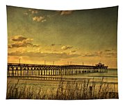 Behind Cherry Grove Pier  Tapestry