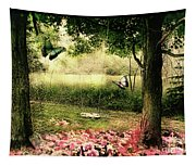 Behind Our House Tapestry