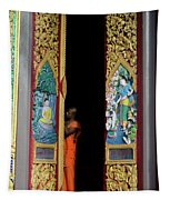 Behind The Doors Tapestry