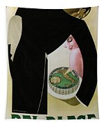 Bel Paese - Melzo, Italy - Vintage Cheese Advertising Poster Tapestry