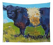 Belted Galloway Cow - The Blue Beltie Tapestry