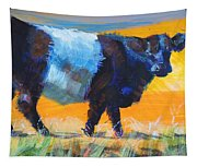 Belted Galloway Cow Side View Tapestry