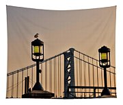 Ben Franklin Bridge In Early Morning Tapestry