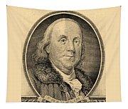 Ben Franklin In Sepia Tapestry