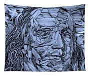 Ben In Wood Cyan Tapestry