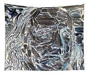 Ben In Wood Negative Art Tapestry