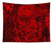 Ben In Wood Red Tapestry
