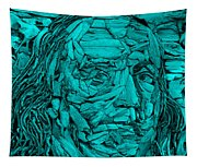 Ben In Wood Turquoise Tapestry