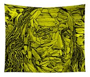 Ben In Wood Yellow Tapestry