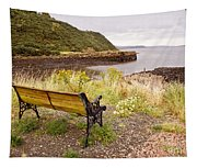 Bench At The Bay Tapestry