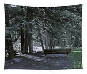 Bench By The Stream II Tapestry