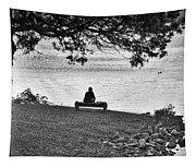 Bench Fishing Tapestry