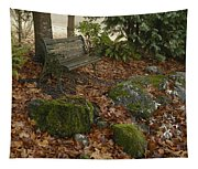 Bench In Fall Tapestry