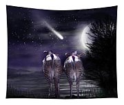 Beneath A Zebra Moon Tapestry