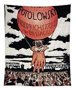 Berlin Potolowsky - Friedrichstrass Passage - Germany - Retro Travel Poster - Vintage Poster Tapestry